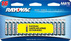 Rayovac AAA Alkaline Batteries - 16 Pack
