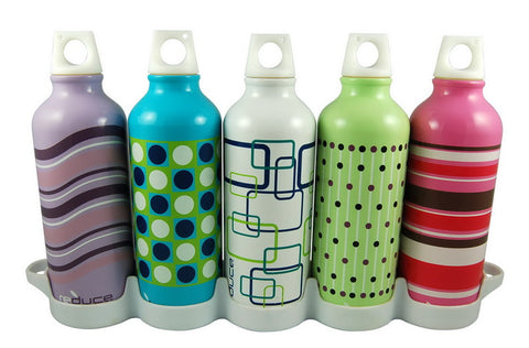 Reduce Water Week Aluminum Bottles - 5 Piece Set