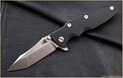 "Rick Hinderer Eklipse Folding Knife w/ Black Scale (3.5"" Blade)"
