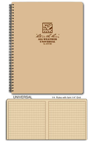 Rite in the Rain 8 1/2 x 11 Maxi Spiral Notebook Tan 973T-MX