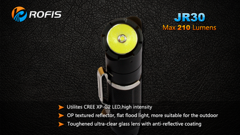 Rofis JR30 CREE XP-G2 210 Lumen 1 x AA Rotating Angle LED Flashlight