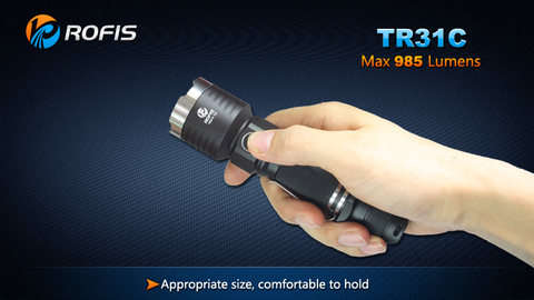 Rofis TR31C CREE XM-L2 985 Lumen 2 x CR123 / 1 x 18650 Rechargeable LED Flashlight