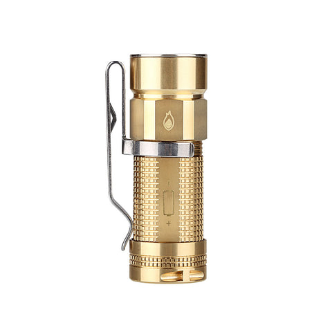 Olight S1-Br Raw Baton Brass 1 x CR123/16340 XM-L2 480 Lumen Neutral White LED Exclusive Limited Edition Flashlight