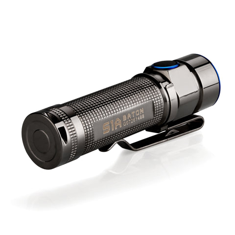 Olight S1A Stainless Steel (Thunder Grey) 1 x AA 600 Lumen CREE XM-L2 LED Flashlight