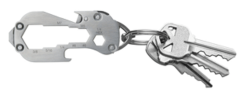 Swiss+Tech Polished Stainless Steel Micro Multitool 8-in-1 Wrench