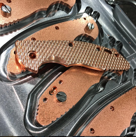 "Rick Hinderer 3.5"" XM-18 Copper Handle Scales"