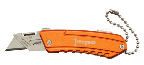 Keygear Orange Box Cutter Keychain