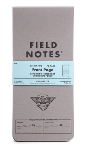 Field Notes Front Page Reporter Notebook