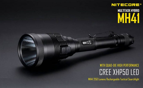 Nitecore MH41 2 x 18650/4 x CR123 2150 Lumen CREE XHP50 LED Flashlight