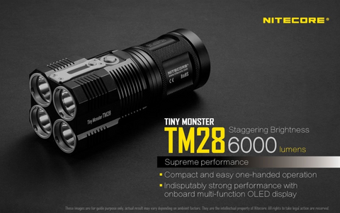 Nitecore TM28 6000 Lumen 4 x 18650 CREE XHP35 HI LED Flashlight