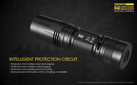 Nitecore R40 1000 Lumen 1 x 26650 CREE XP-L HI V3 LED Flashlight