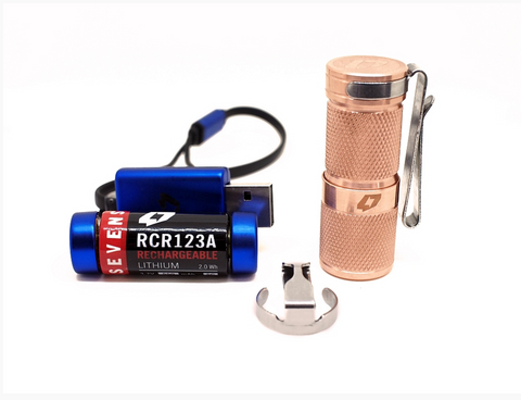 Foursevens Mini Mark II Raw Copper 980 Lumen 1 x CR123 CREE XM-L2 U3 LED Flashlight