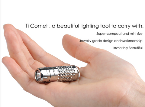 Sunwayman Ultra Compact Limited Edition Titanium Comet 88 Lumen 1 x 10180 CREE XQ-R2 LED Flashlight