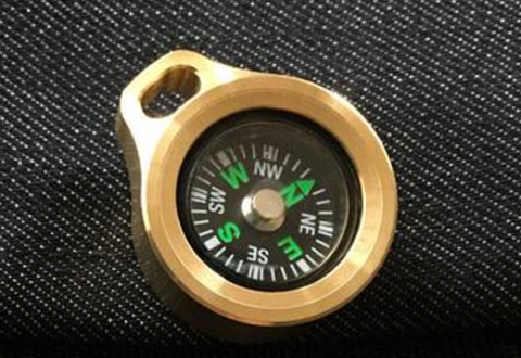 MecArmy Brass Compass CMP-B - Glow in The Dark