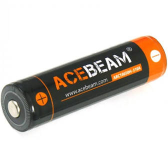 Acebeam 18650 Rechargable 3100mAh Lithium Ion High Drain Battery - Button Top