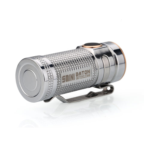 Olight S Mini Baton Ti (Polished Titanium) 1 x (R)CR123 550 Lumen CREE XM-L2 LED Flashlight
