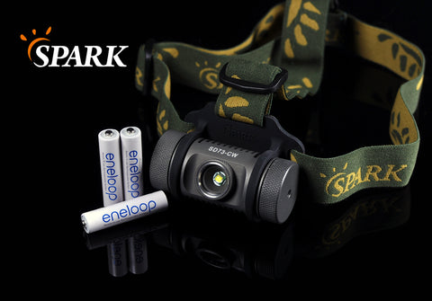 Spark SD73-CW XM-L T6 Cool White 300 Lumen AAA Flood Headlamp