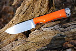 Sparky 4 Custom Fixed Blade - Orange G10