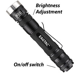 EagleTac P25LC2 2 x CR123/1 x 18650 CREE XM-L2 920 Lumen LED Flashlight