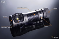 Spark SG5-NW CREE XM-L2 T6 260 Neutral White Lumen Headlamp 1 x AA or 1 x 14500