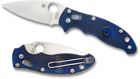 Spyderco Manix 2 Translucent Blue Folding Knife - C101PBL2