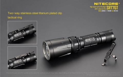 Nitecore SRT7GT 1000 lumen 1 x 18650 CREE XM - L HI V3 LED Flashlight