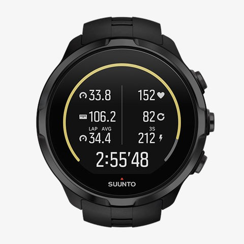 Suunto Spartan Sport Watch with Wrist Heart Rate Monitor-All Black