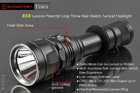 Sunwayman T20CS XM-L U3 LED 658 Lumen Flashlight