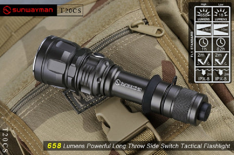 Sunwayman T20CS XM-L U2 LED 658 Lumen Flashlight