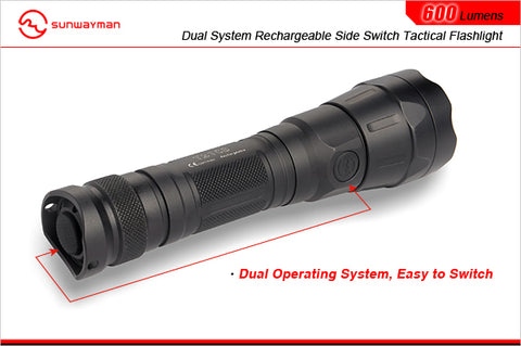 Sunwayman T21CS CREE XM-L U3 LED 2 x CR123 / 1 x 18650 600 Lumen Tactical Flashlight