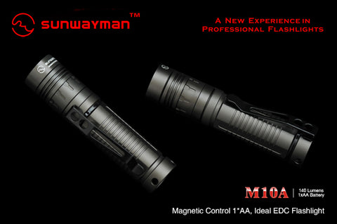 Sunwayman M10A XP-G R5 AA LED Flashlight