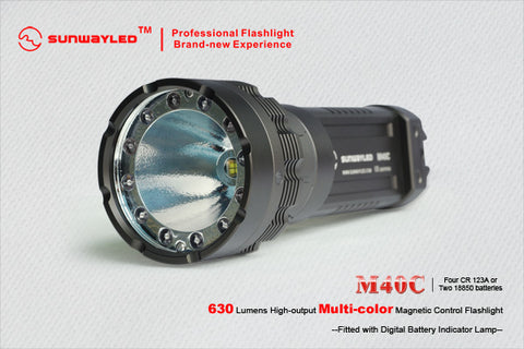 Sunwayman M40C LED Flashlight 630 Lumens 4 x CR123
