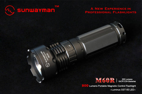 Sunwayman M60R SST-50 LED Flashlight 800 Lumens