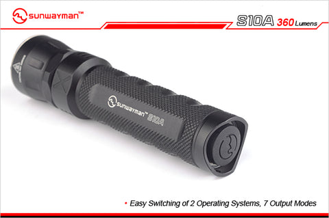 Sunwayman S10A Little White Shark CREE XM-L2 LED 360 Lumen 1 x AA / 14500 Flashlight