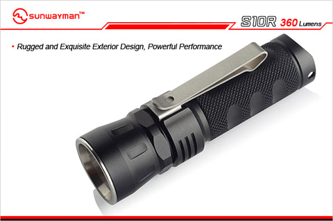 Sunwayman S10R Little White Shark CREE XM-L2 LED 360 Lumen 1 x CR123 / 16340 Flashlight