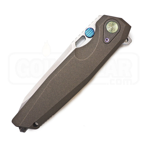 "Rike Knife Thor 2 Bead Blasted Titanium Gray Folding Knife (3.8"" Blade)"