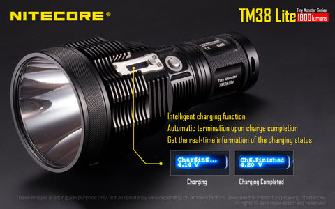 Nitecore TM38 Lite 1800 Lumen 4 x 18750 CREE XHP35 HI D4 LED Flashlight