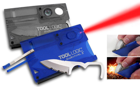 Tool Logic SVC2B Survival Card w/ Light - Blue