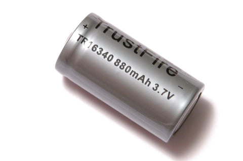 Trustfire 880 mAh RCR123 Lithium Rechargeable Battery