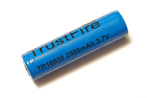 Trustfire 2500 mAh 18650 Protected Lithium Rechargeable Battery