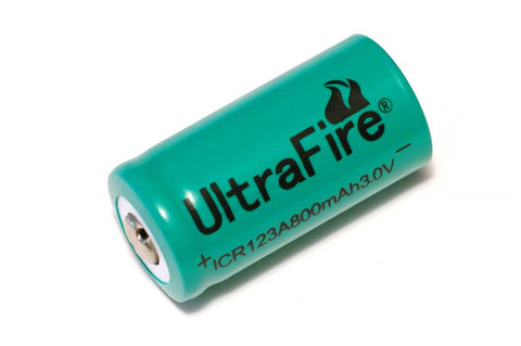 Ultrafire 800 mAh 3V RCR123 Lithium Rechargeable Battery