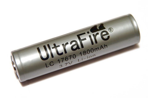Ultrafire 1800 mAh 17670 Protected Lithium Rechargeable Battery