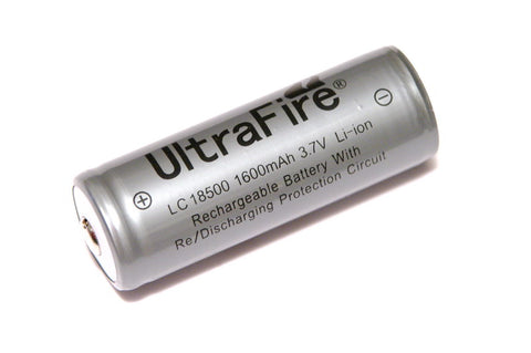 Trustfire 1600 mAh 18500 Protected Lithium Rechargeable Battery