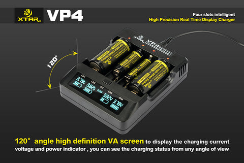 XTAR VP4 Intelligent Battery Charger
