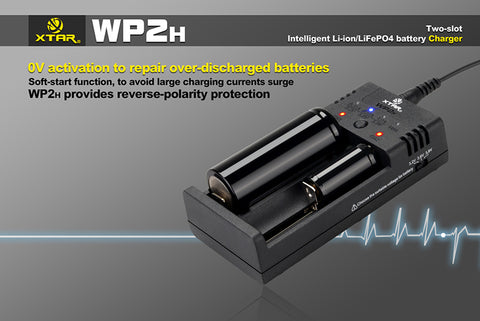 Xtar WP2H Intelligent Li-ion/LiFePO4 Battery Charger