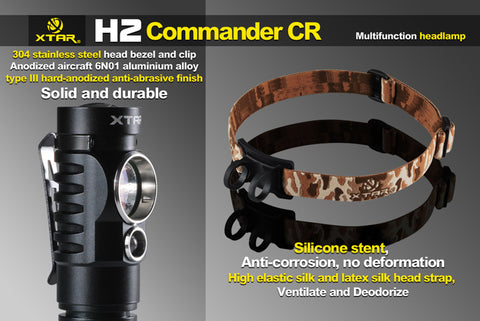XTAR H2 Commander CR Headlamp 330 Lumen 1 x CR123