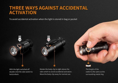 Fenix E18R 750 Lumen Ultra-Compact High Perfomance Rechargeable EDC Flashlight