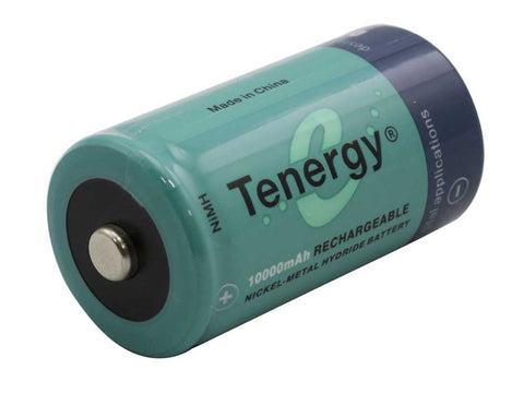 Tenergy D Size 10,000mAh 1.2V Nickel-Metal Hydride Battery