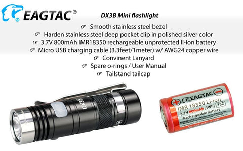 EagleTac DX3B Mini XHP 50.2 J4 LEDs 2310 Lumen - NW