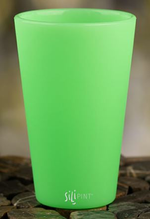 Sili PINT 16oz Original Pint Glass Glow In The Dark Green